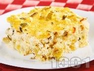 Огретен с тиквички и сирене